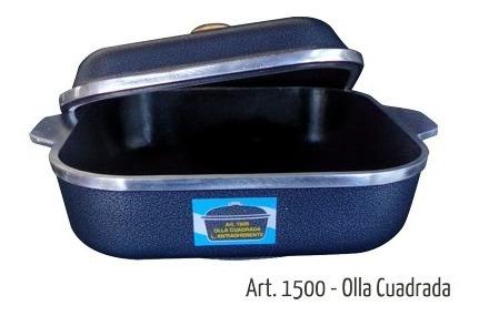 Olla Horno Cuadrada Cap. 5 Lts. Art. 1500 Con Teflón
