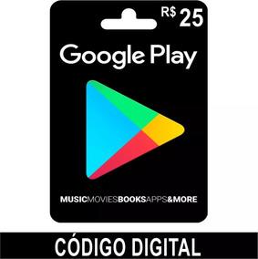 Vale Presente Play Store R$ 25,00