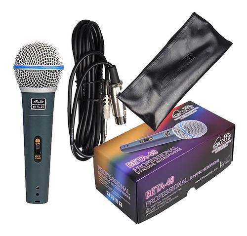 Microfono De Mano Gbr Beta49 Dinamico Con Cable Y Estuche