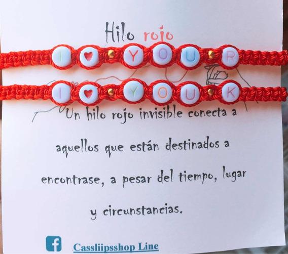 Pulceras Con Nombre Personalizadas Hilo Rojo En Pareja