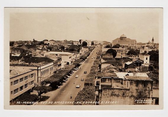 Cartao Foto Postal Manaus Am - Av Eduardo Ribeiro - Anos 60