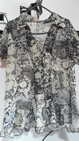 Lote De 2 Camisas Usadas De Tela Talle Xl Y Xxl Mujer