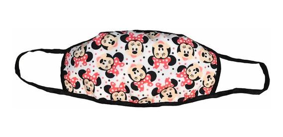 Cubrebocas Mickey & Minnie Tapa Bocas Varios Modelos Tela