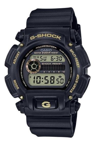 Relógio G-shock Casio Digital Preto Com Dourado Dw-9052gbx