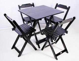 Cadeiras E Mesas Dobráveis De 70x70 Com 4 Cadeiras