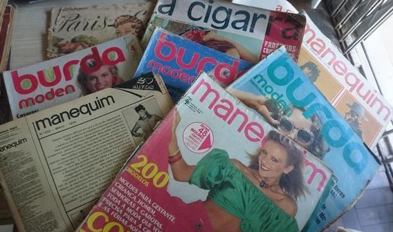 Lote C/ 24 Revistas Femininas Moldes Cigarra Manequim Burda