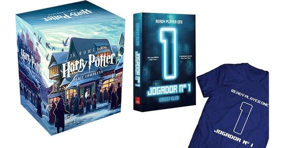 Box Harry Potter A Saga Completa + Livro - Jogador N1 + Cami