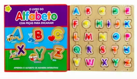 Livro Alfabeto Com Pecas Encaixar - Peças De Encaixe