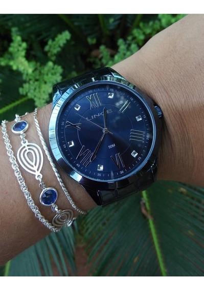 Relógio Lince Feminino Azul Lraj046l D3dx Analógico