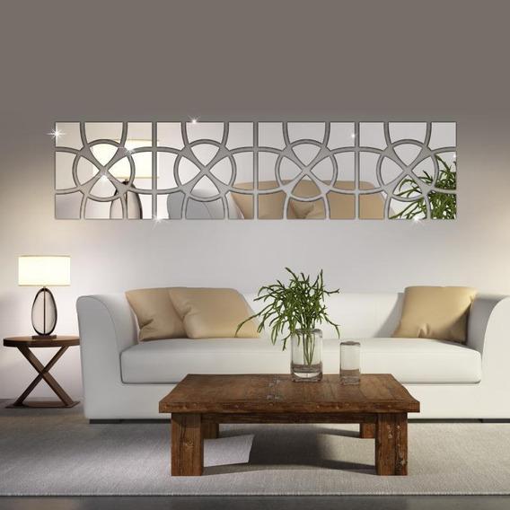 Espelho Decorativo Abstrato Acrílico Sala Quarto Grande