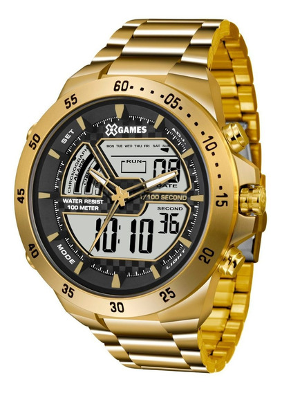 Relógio X-games Masculino Xmgsa004 Bxkx Dourado Oferta