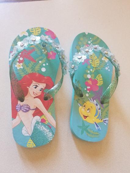 Ojotas De Niña Disney Ariel
