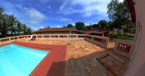 Chácara 7381,50m2,casa 247m2 3 Dorms 2 Suítes,5 Banheiros,4 Vagas,casa Sede E Caseiro,piscina,churrasqueira,2 Ranchos,portão Eletronico - Ch00043 - 69181603