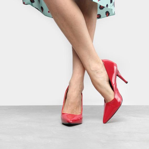 Sapato Scarpin Salto Alto Vizzano Verniz