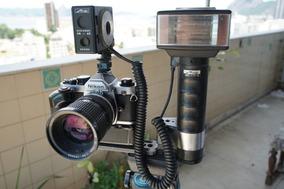 Nikon Fm2 + Md12 + Nikkor 35-70 F3.5 + Flash Metz 45ct1
