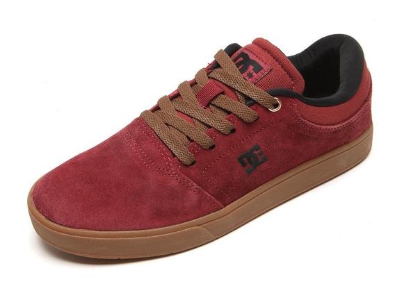 Tênis Dc Shoes Crisis La Burgundy Gum 9us Skate Globe Dvs Emerica 100% Original Pronta Entrega