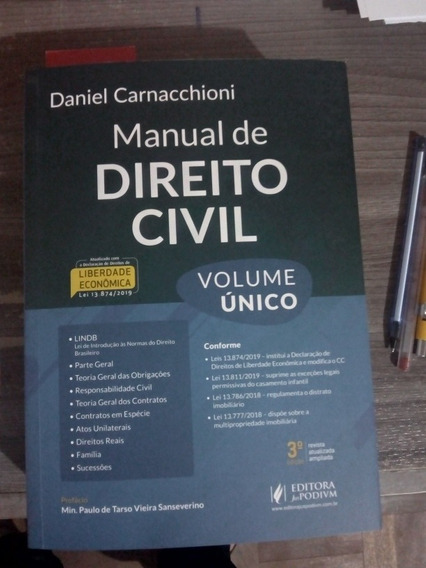 Manual De Direito Civil Ed. 2020