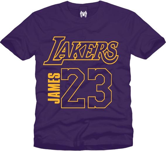 Playera Lebron James Los Angeles Lakers Manga Corta