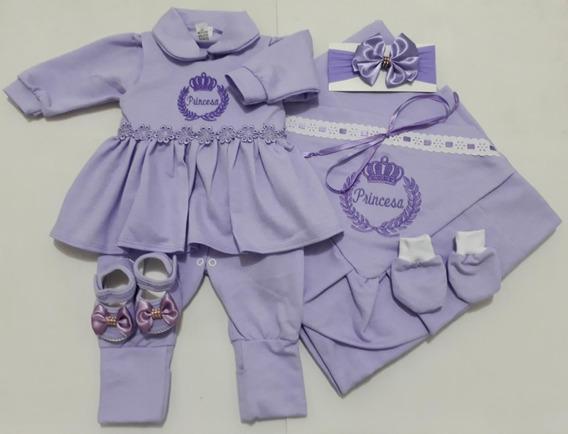 Saída Maternidade 6 Peças 100% Algodão - Menina