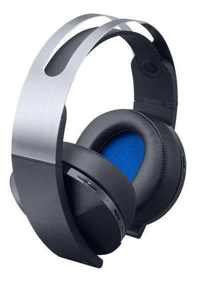 Auriculares gamer Sony PlayStation Platinum negro y plata