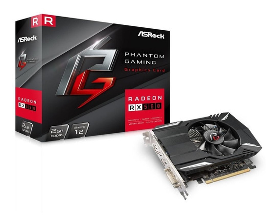 Placa De Video Asrock Phantom Gaming Radeon Rx550 2gb Gddr5