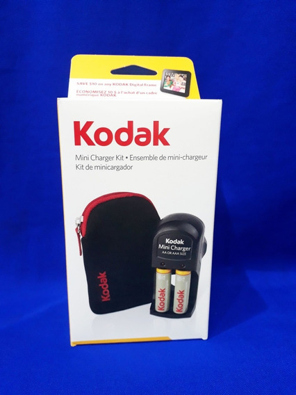 Combo Kodak Cargador, Pila Aa Y Forro