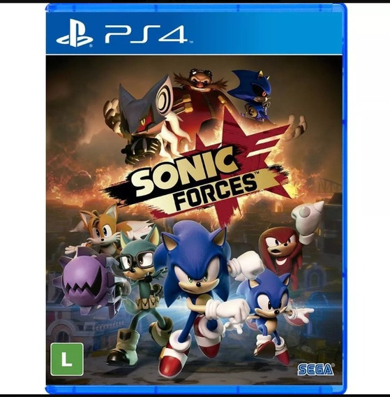Sonic Forces Ps4 Midia Fisica Novo Lacrado
