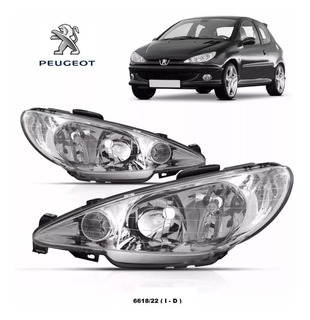 Optica Peugeot 206 Vidrio Liso Parabola Simple