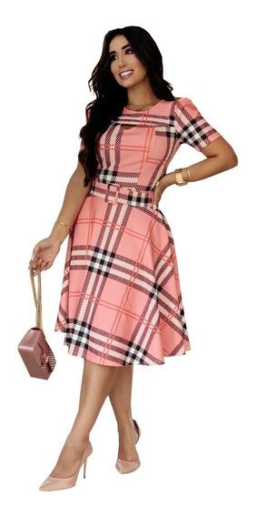 Vestido Evangélico Feminino Midi Moda Evangélica Social