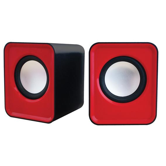 Caixa De Som Usb Pc Notebook 5w Cube Vermelho Newlink Oex