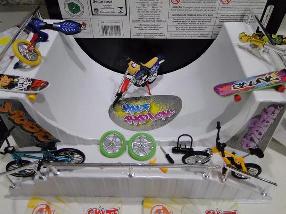 Pista Skate Dedo Half Radical 35cm X 25cm Skatepark Corrimão