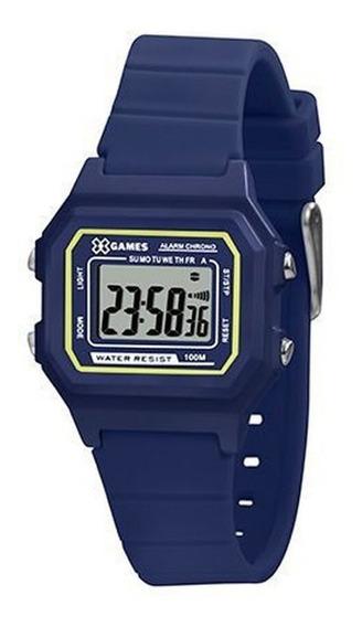 Relógio Masculino Azul X-games Digital Pulseira Silicone