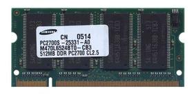 Memória Samsung Ddr 512mb Pc 266 333 400mhz Para Notebook