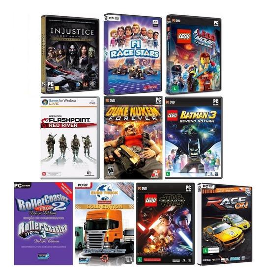 Kit 10 Jogos Para Pc Em Dvd - Midia Fisica Original Lacrado