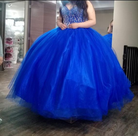 Vestido De 15 Color Azul Rey Te Talla Grande