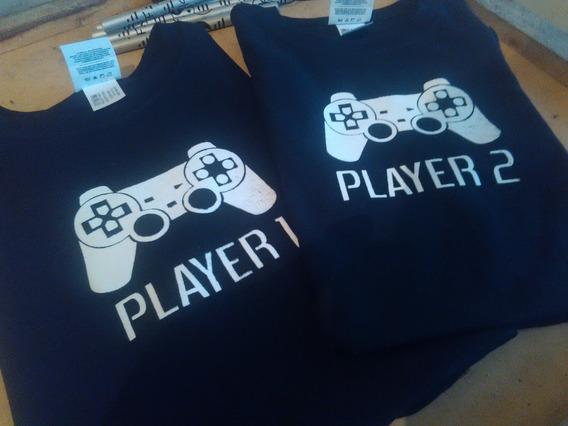 Playeras Player 1 Y Player 2 - Envio Gratis -