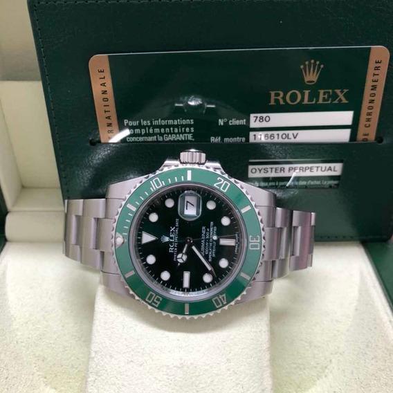 Relogio Rolex Hulk Aço Com Aço Ano 2013