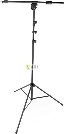 1 Pedestal,suporte P/microfone Over,boom,piano-base Em Tripé