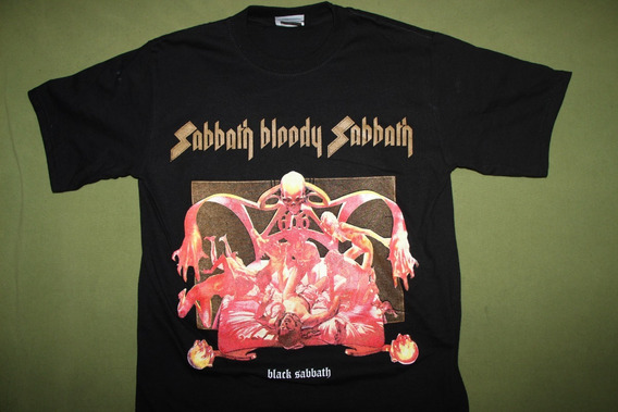 Gusanobass Playera Rock Metal Black Sabbath Bloody Heavy M S