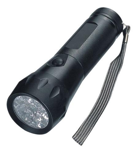 Linterna Hessen 16 Leds 55 Lumen Cuerpo De Aluminio Negro