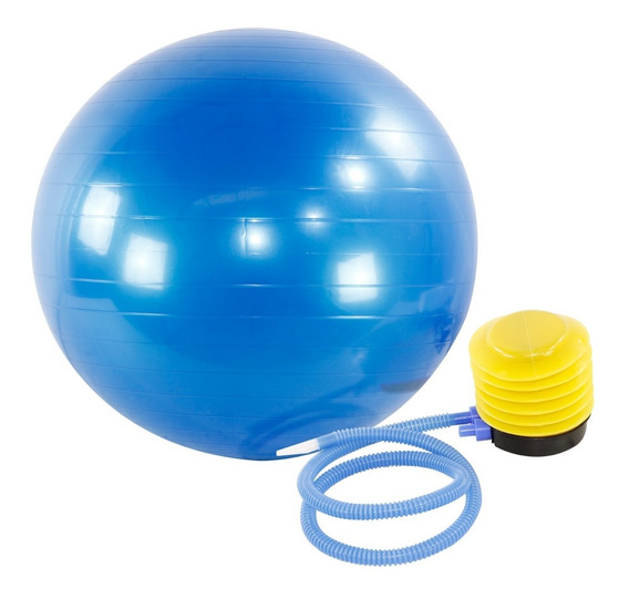 Bola De Pilates 65cm Gym Ball Com Bomba De Ar