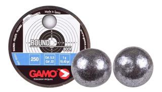 Balines Gamo Round 5.5 X250u - Esfericos Premium Caza Pluma