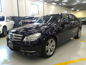 Mercedes Benz C 200 Cgi Exclusive 2013 Azul/beige
