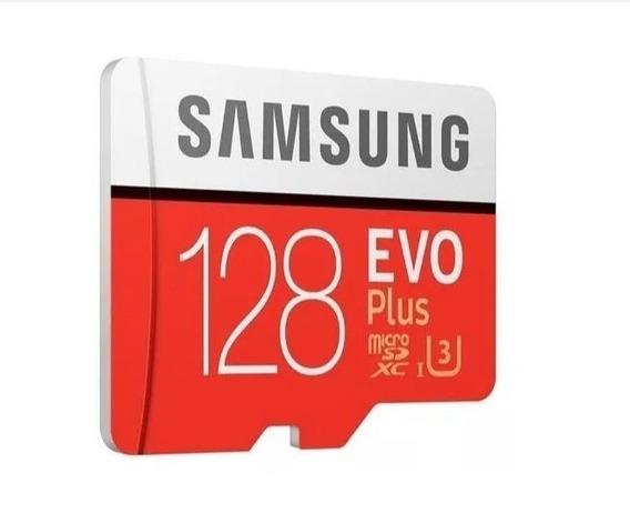 Cartão Samsung Micro Sd Evo Plus 128gb 100mb/s Uhs-3 U3 4k
