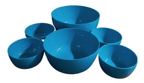 Set De 6 Bowls Premium Plastico Reforzado 3 Medidas Apto