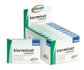 Vermífugo Vermivet Composto Kit 10cx Com 4 Comprimidos Cada