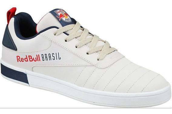 Tênis White Navy Salzburg Branco Couro Sintético Red Bull