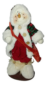 Muñeco Country Nieve Con Morral 40 Cm Navidad Regalo Amor