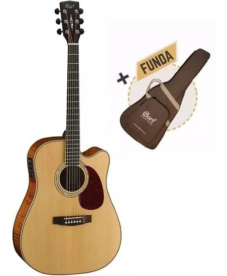 Guitarra Electro Acústica Cort Mr710f Ns Fishman + Funda 6pa