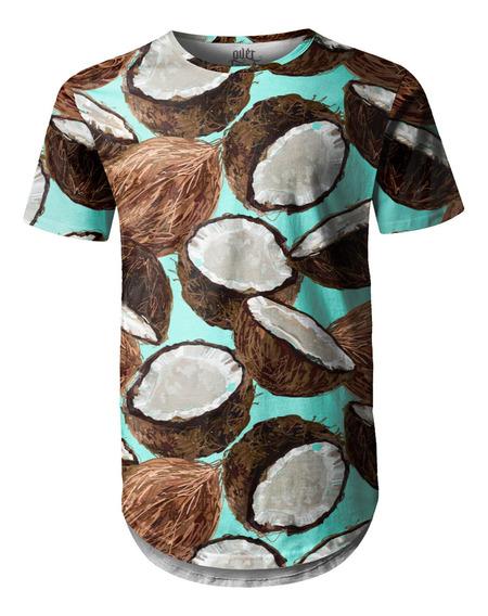 Camiseta Masculina Longline Swag Longline Cocos